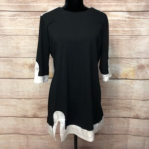 Bebe Long Sleeve Shift Dress